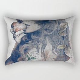 Koi No Yokan: Blue Rust Rectangular Pillow