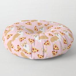 Welsh Corgi Pizza pattern funny dog art customized pet portrait children fur baby must have corgi  Floor Pillow