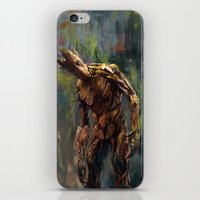 groot iPhone & iPod Skins featuring I am Groot! by Wisesnail