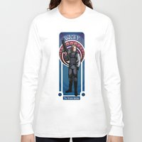 winter soldier Long Sleeve T-shirts featuring Bucky the Winter soldier by Studio Kawaii