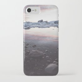 Jokulsarlon Lagoon - Sunset - Landscape and Nature Photography iPhone Case