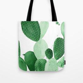 Green Paddle Cactus II Tote Bag