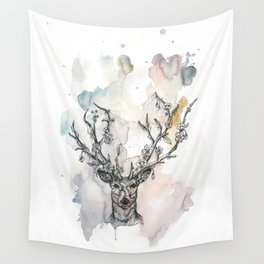 Cobweb Deer Wall Tapestry