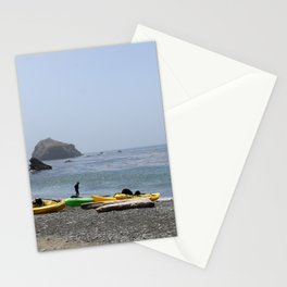 Canoes At Bodega Bay Stationery Cards