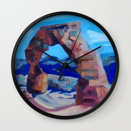 The Delicate Arch  Wall Clock