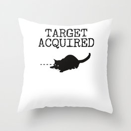 Target Acquired Cat Throw Pillow