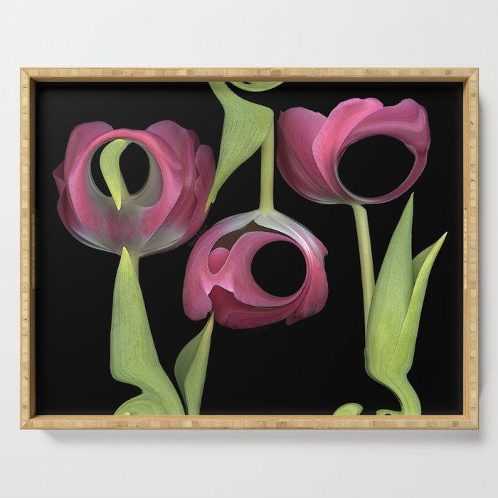 Pink Tulip Bouquet Serving Tray
