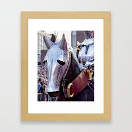Armoured Horse And Knight Framed Art Print