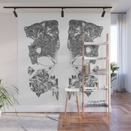 MAskiert Grau Wall Mural
