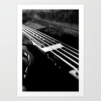 bass Art Prints featuring Bass  by Lia Bedell