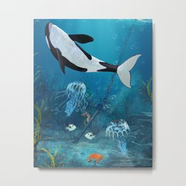 Orca II Metal Print