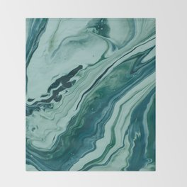 Blue Planet Marble Throw Blanket
