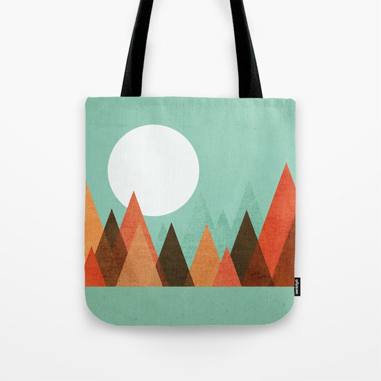 From the edge of the mountains Tote Bag