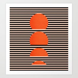 Abstraction_SUNSET_LINE_ART_Minimalism_001 Art Print