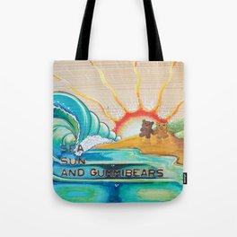 Sea, Sun and Gummibears Tote Bag