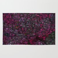 maps Area & Throw Rugs featuring Fantasy City Maps 1 by MehrFarbeimLeben