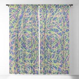 FOMO Anxiety: Pop Art Lines Sheer Curtain