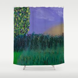 Backyard Sunrise Shower Curtain