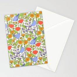Birds and Wild Blooms Stationery Cards