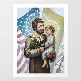 Saint Joseph The Protector Art Print