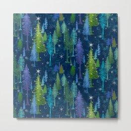 Midnight Pines Wonderland Metal Print