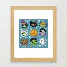 Spooky Doodles Framed Art Print