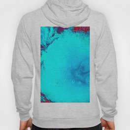 Blue and Magenta Paint (Color) Hoody