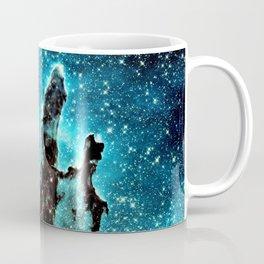 Teal Turquoise Blue Pillars of Creation Coffee Mug