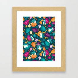 Busy Easter Bunnies Framed Art Print