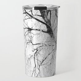 White snow tree Travel Mug