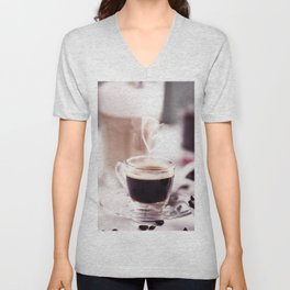 Coffee with heart Unisex V-Neck