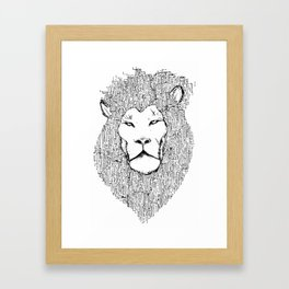 Lion 2.0 Framed Art Print