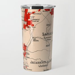 Map Of Palestine 1926 Travel Mug