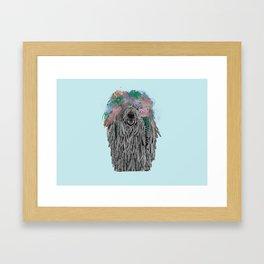 Dredlock Dog (Pastel Blue Edition) Framed Art Print