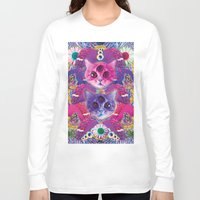 holographic Long Sleeve T-shirts featuring 3rd eye tacocat by STORMYMADE