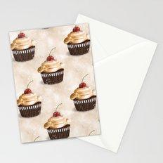 Cherry cupcake pattern Stationery Cards
