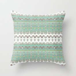 Foxes Green Throw Pillow