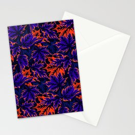 Leaves - Blue/orange Stationery Cards