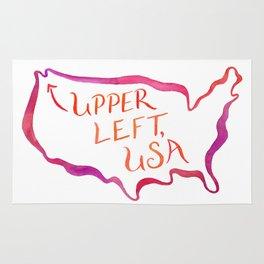 Upper Left, USA - Warm Hues Rug