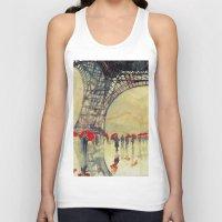paris Tank Tops featuring Winter in Paris by takmaj