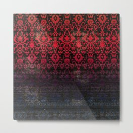 -A12- Red Blue Gardient Colored Moroccan Artwork. Metal Print