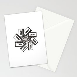 Mix Tape Whirl Stationery Cards