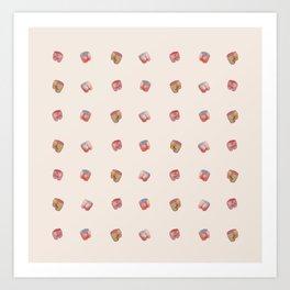 Pink Butts Art Print