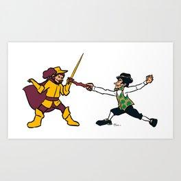 Cavaliers vs Celtics Art Print