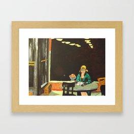 Auto Mat - Edward Hopper  Framed Art Print