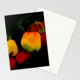 Peppers in Hot Abstract Stationery Cards