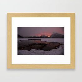 Vermillion Sunrise Two Framed Art Print