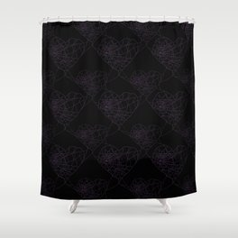 Heart shaped spider web pattern Shower Curtain