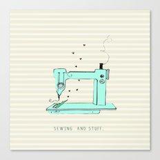 sew and stuff... Canvas Print