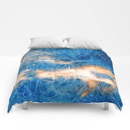 Burning Ice Clouds Comforters